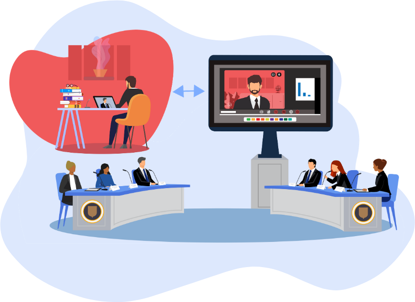 Virtual Council Video Conferencing Feature